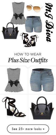 """""""Black PLUS White"""" by dabosschick1 on Polyvore featuring WearAll, LE3NO, Kenneth Cole, Tom Ford, white, black, blackandwhite and plussize"""