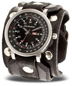 red monkey designs men 39 s rmvl1 g violator chronograph brown leather blue dial watch red monkey. Black Bedroom Furniture Sets. Home Design Ideas