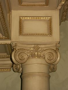 18 Table Plaster Pillar Bought From Hobby Lobby Spray Painted Silver And Then Used A Dark