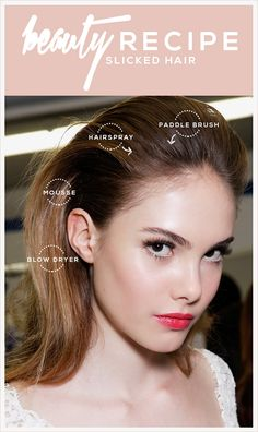 Slicked Back Hair: How to Get the Look | Beauty High