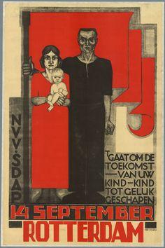 Fré Cohen 1930 't gaat om de toekomst van uw kind IISG - Fré Cohen - Wikipedia Vintage Advertisements, Vintage Ads, Vintage Posters, Diesel Punk, Poster Ads, Poster Prints, Rotterdam, Degenerate Art, Art Deco Posters