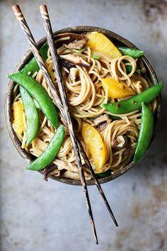 Vegetable Noodle Stir Fry with Orange | Floating Kitchen