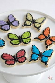 Decorated Butterfly Cookie Video Tutorial