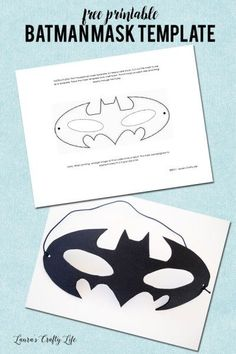 Free Printable Batman Mask Template