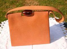 REDUCED Vintage Light Tan Leather Jane Shilton by gillardmay2011, £40.00