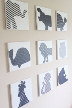 Animal silhouettes as wall art