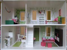 Great DIY doll house furniture ideas  absolutely beautiful, can't wait to try some of these out with my little sister's christmas present!!!