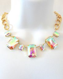 Luminescent Crystal Necklace - This would be great to pop a little black dress.