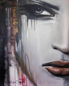 """Saatchi Art Artist Hesther Van Doornum; Painting, """"Lady in Red - SOLD"""" #art"""