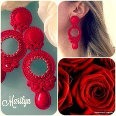 Tutorial Soutache, Beaded Jewelry, Handmade Jewelry, Soutache Earrings, Shibori, Jewerly, Ideas Para, Creative, Macrame