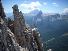 Hiking, and Climbing The Dolomite Mountains in Cortina, Italy