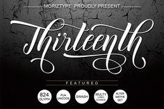 Thirteenth Script (Font) by Moriztype · Creative Fabrica Script Logo, Script Type, Business Brochure, Business Card Logo, Photoshop, Banners, International Symbols, Alphabet, Texture Web