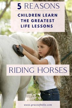 Horse-Back Riding – 5 of the greatest life lessons children learn - Best Equitation Horse Lessons For Kids, Life Lessons, Horseback Riding Lessons, Horse Riding Tips, Horse Facts, Western Riding, Living Off The Land, Great Life, Horse Care