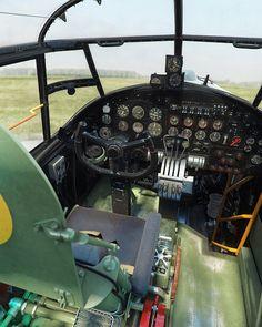 Avro Lancaster Cockpit by Piotr Forkasiewicz