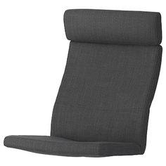 POÄNG, Chair cushion, Vislanda black/white, This cover's ability to resist abrasion has been tested to handle cycles. A cover that withstands cycles or more is suitable for furniture that should withstand everyday use in the home.