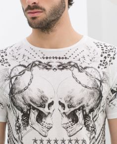 SKULL PRINT T - SHIRT - T - shirts - MAN | ZARA Hong Kong