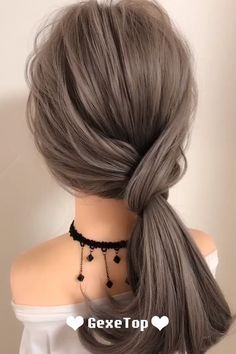 What an easy and unique hairstyle to complete your looks! ponytail hairstyles for long hair Super Easy Hairstyle Easy Hairstyle Video, Super Easy Hairstyles, Bun Hairstyles For Long Hair, Ponytail Hairstyles Tutorial, Fast Hairstyles, Girl Hairstyles, Wedding Ponytail Hairstyles, Long Ponytail Hairstyles, Athletic Hairstyles