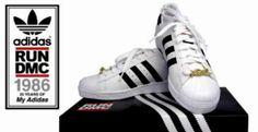"Adidas Originals Superstar – Run DMC ""My adidas"" Anniversary Pharrell Williams, Adidas Superstar, Run Dmc, Maisie Williams, Hero Tv, 25th Anniversary, Personal Style, Adidas Sneakers, Kicks"