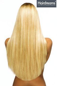 An extra long gorgeous mane was created from Vanessa's shoulder length hair using 50cm Hairdreams strands.    Beautiful hair extensions are also possible with shorter lengths; for example by using 30cm hair, which will reach about 10cm over the shoulders.
