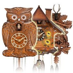 as you can see I'm more obsessed than usual with owls tonight. Also, I love cuckoo clocks. I want to have at least fifty of them in my house.