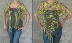 Crochet and Other Stuff: Tropical Shawl with fringe - free crochet pattern