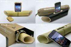 Een bamboe luidspreker voor je iphone. http://ibamboospeaker.com