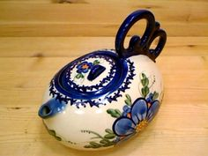 Polish Pottery 27 oz Tea or Coffee Pot | Boleslawiec Stoneware | Polmedia H9412H | Polmedia