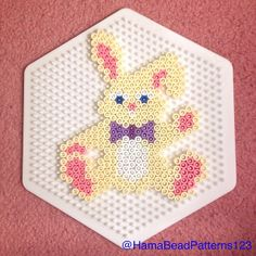 Easter bunny hama beads by hamabeadpatterns123