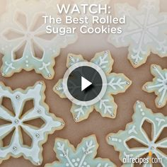 Watch one of our most-popular sugar cookie recipes in action, then whip up a batch of your own—armed with tips, of course. Repin if you are a sugar cookie monster.