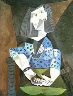 Pablo Picasso - Mujer de azul I