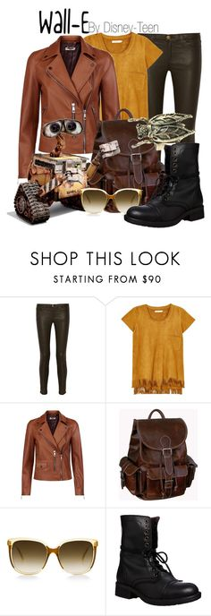 """""""Wall-E"""" by disney-teen ❤ liked on Polyvore featuring Current/Elliott, Rabens Saloner, Whistles, AmeriLeather, Disney, Steve Madden, disney, disneybound, pixar and walle"""