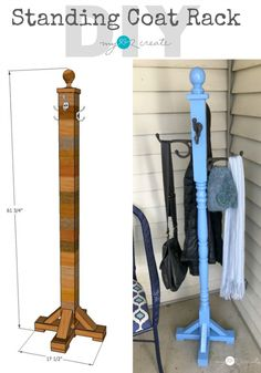 Diy Standing Coat Rack Plans - Standing Coat Rack My Love 2 Create Diy Coat Rack Diy Coat Rack Diy Wood Projects Decor How To Build A Standing Coatrack Diy Coat Rack Standing Coat A. Diy Furniture Projects, Diy Wood Projects, Furniture Making, Furniture Makeover, Furniture Plans, Diy Möbelprojekte, Easy Diy, Sell Diy, Dyi
