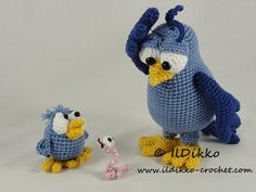 Amigurumi Crochet Pattern - Burton and Bertie the Birds !!!This listing is for a crochet pattern and not a finished item!!! Burton and Bertie the Birds: The pattern is very detailed and contains a lot of pictures. This is an instant digital download PDF pattern (ready to download