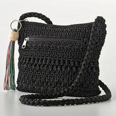 Vintage crochet cross-body bag (much like this one from Kohls)