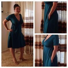 Sewing with Knits Class - Green Surplice Dress   Craftsy