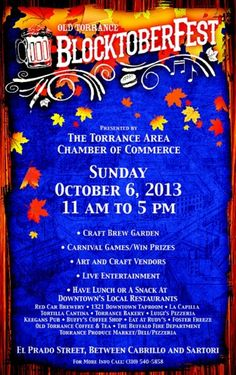 This is always an exciting event sponsored by the Torrance Area Chamber of Commerce.  Make your plans today!