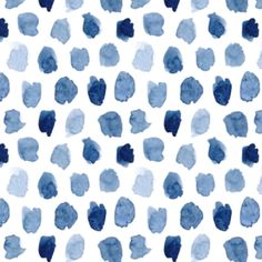 Watercolor Ink Spots in Blue Indigo and by ByGeorgeBabyBoutique