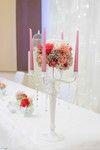 Tischdeko in rosa Hochzeit