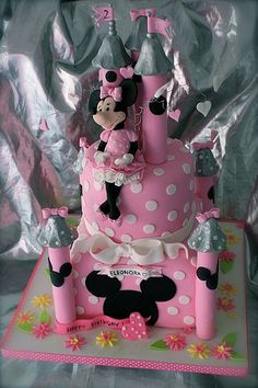 minnie castle cake