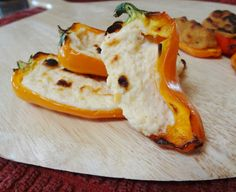 Goat Cheese stuffed Baby Peppers -- this is so happening! Cooking this ASAP!