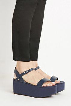 Faux Suede Flatform Sandals | F21