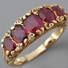 Antique Victorian Gold Ruby Ring