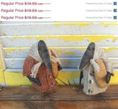 Spring Forward Sale Primitive Lena Crows by Rabbithollowprims, $17.95