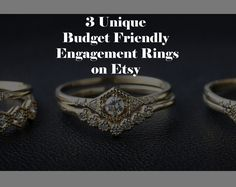 Where to find cheap modern engagement rings on Etsy