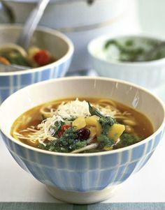 Soup au Pistou; Easy Vegetable Soup, a French Bistro Classic.