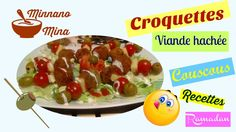 croquettes de viande hachée au couscous, recette facile et rapide, boule...