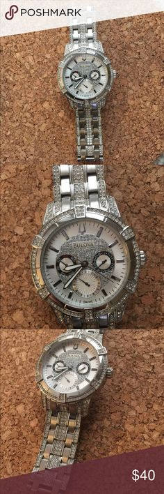 Bulova man watch Beautiful stylish Bulova watch . Great condition like shown in pictures .. only needs batteries!! Accessories Watches