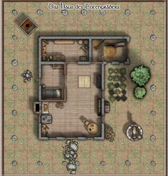 13x14 Battlemap - House of the Undertaker