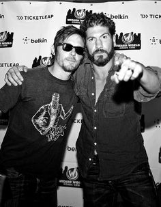 """Norman and Jon (""""Daryl Dixon"""" and """"Shane Walsh"""" on The Walking Dead)"""