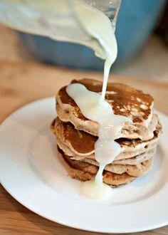 Cinnamon bun pancakes.  This is so not a good idea that I saved this.